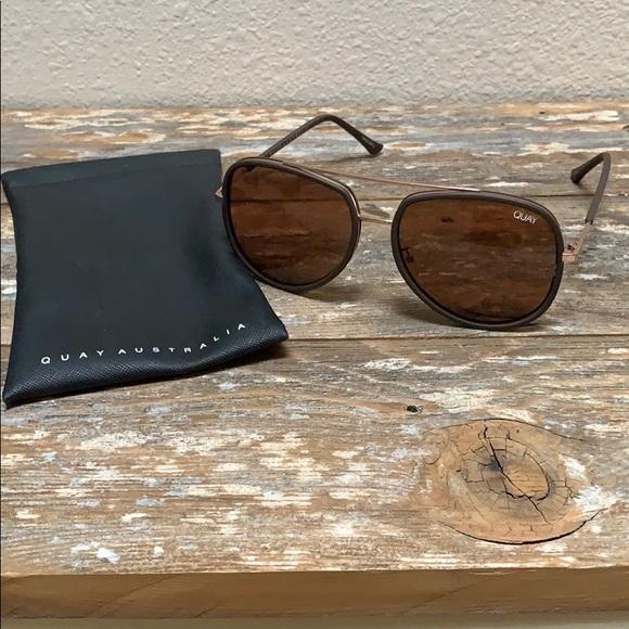 "Quay Australia Accessories - QUAY ""Needing Fame"" Sunglasses - Brown"
